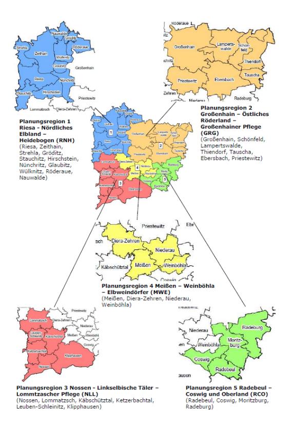 Planungsregionen LK Meißen